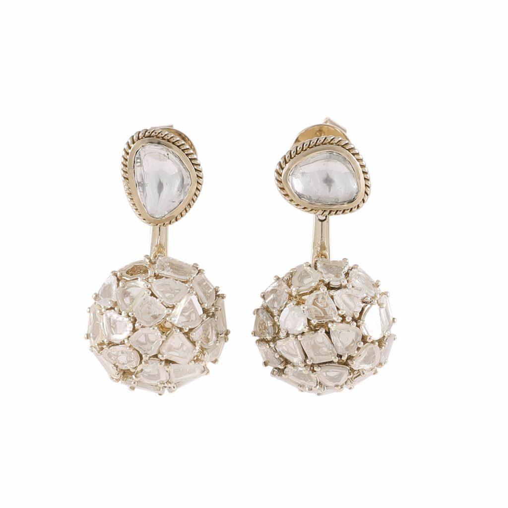 Earring Zero 3 – Diamonds in White Gold by IVAR by Ritika Ravi