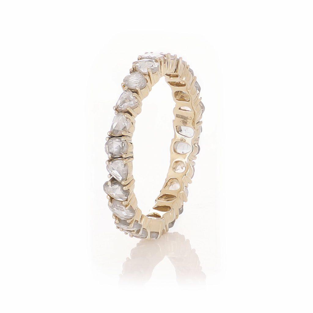 Ring Zero 5 – Diamonds in Yellow Gold by IVAR by Ritika Ravi