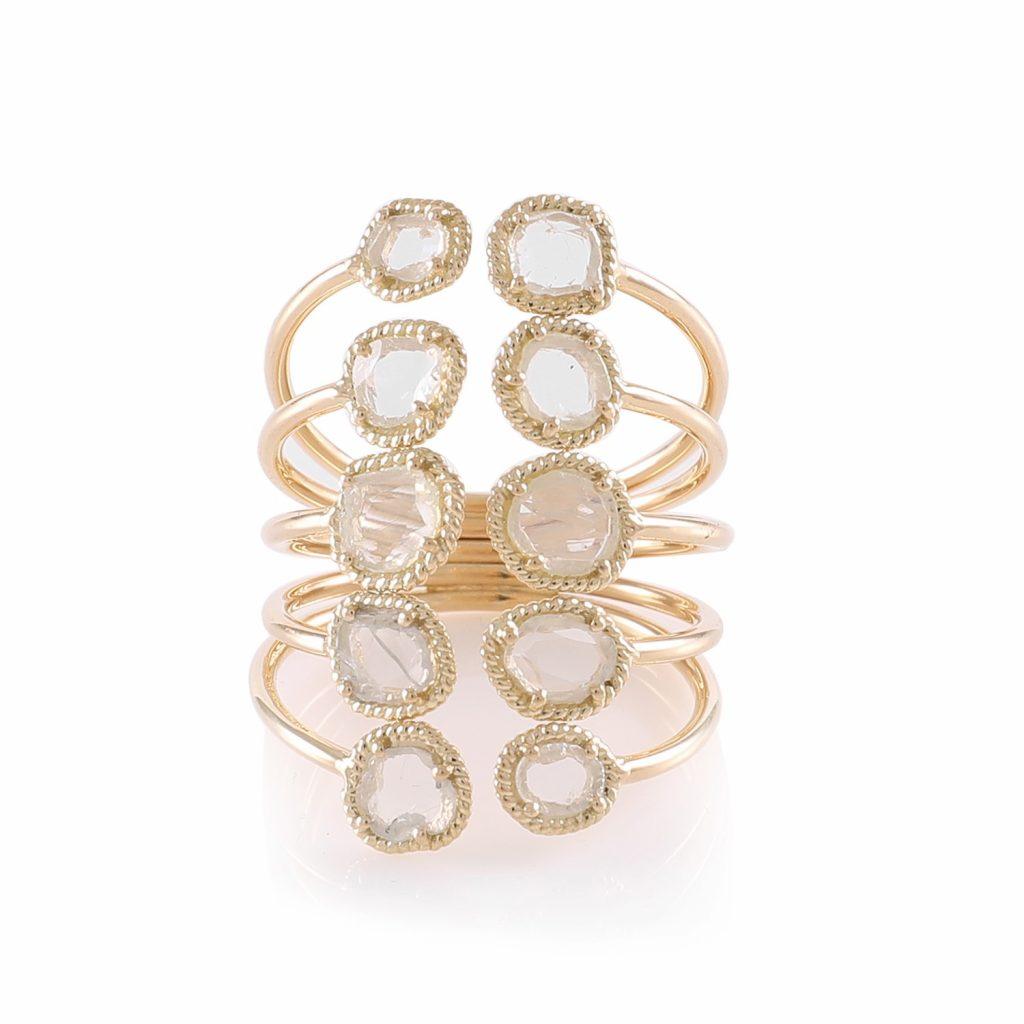 Ring Zero 2 – Diamonds in Yellow Gold by IVAR by Ritika Ravi