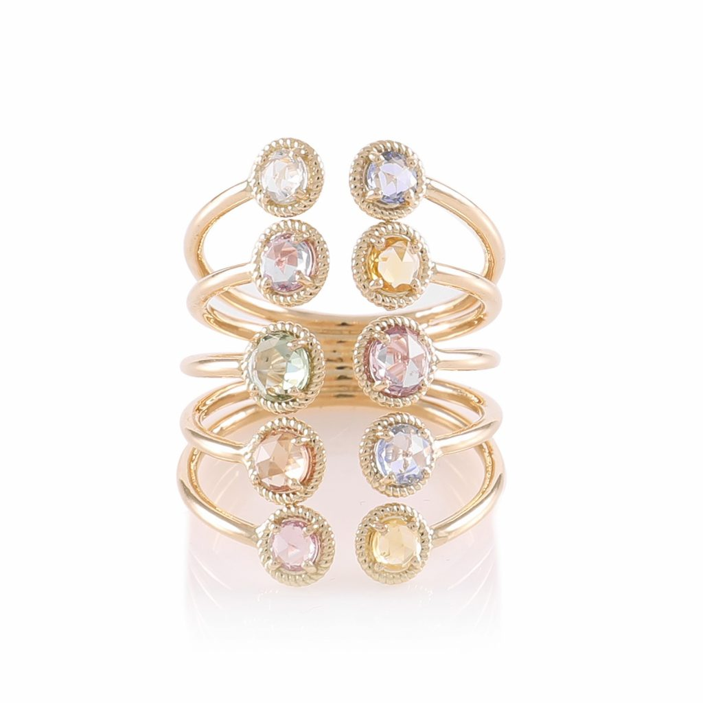 Ring Zero 2 – Multicolour Sapphires by IVAR by Ritika Ravi