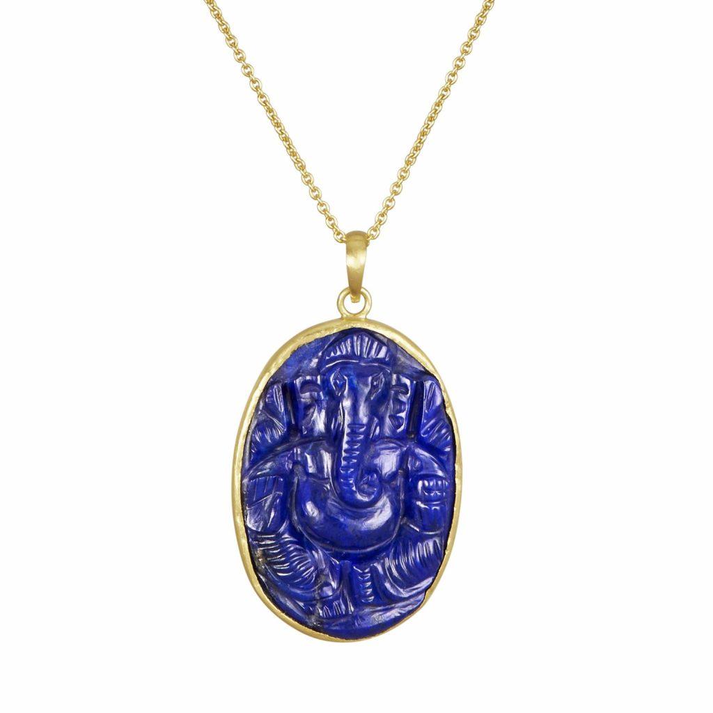 Lapis Lazuli Ganesh by Sophie Theakston