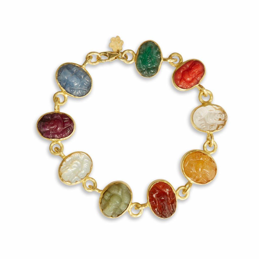 Navratna Ganesh Bracelet by Sophie Theakston