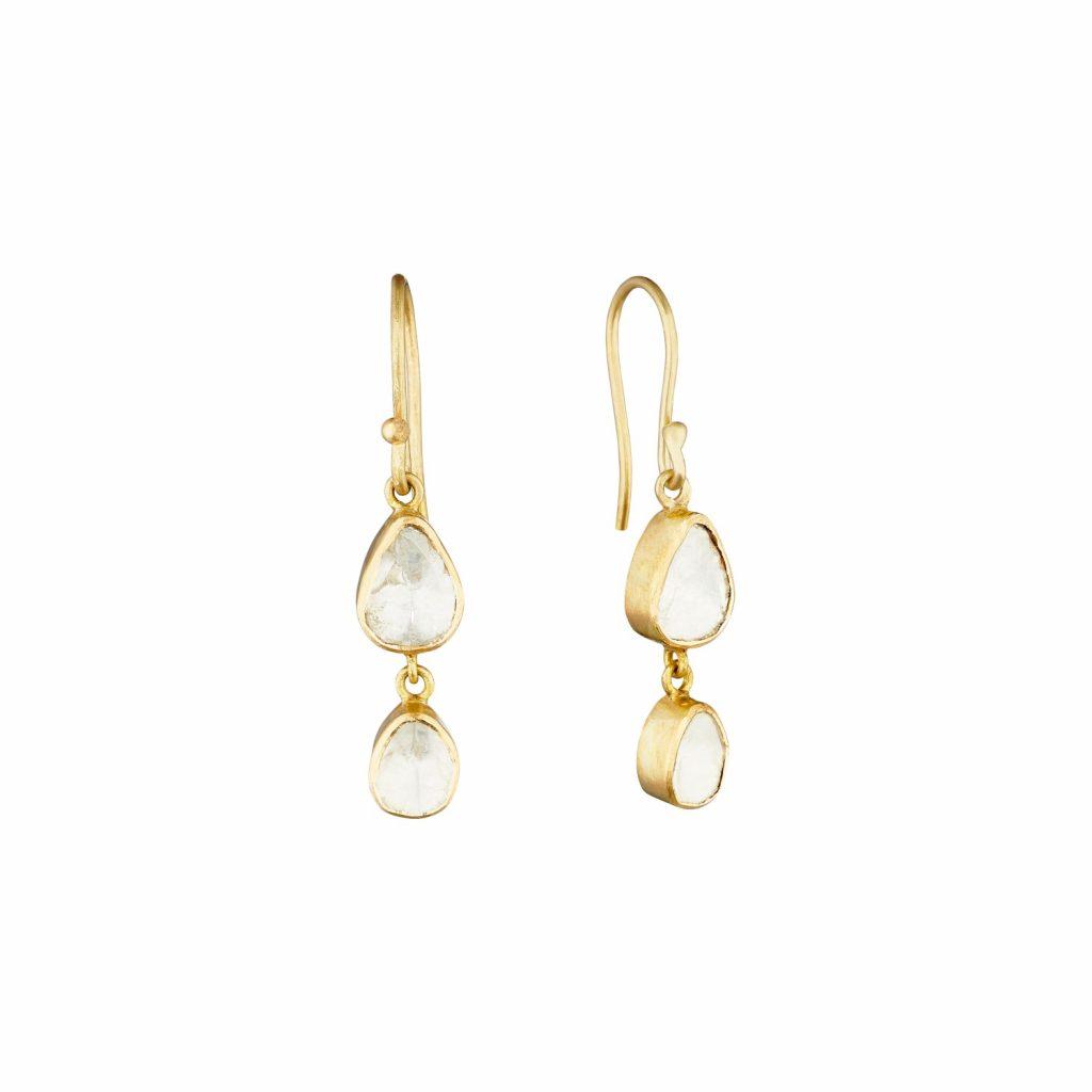 Polki Double Drop Earrings by Sophie Theakston