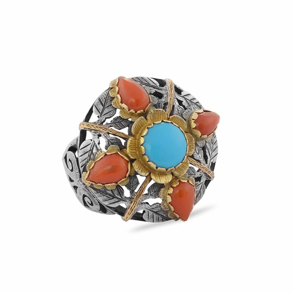 The Joy Turquoise Coral Ring by Emma Chapman Jewels