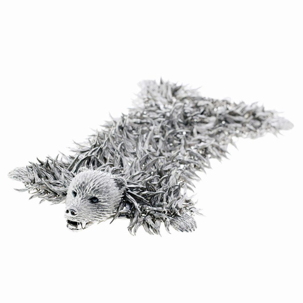 Dionysus Bear Bracelet (Silver) by Simon Harrison