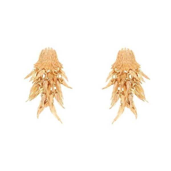 Dionysus Bear Drop Earrings (Gold) by Simon Harrison