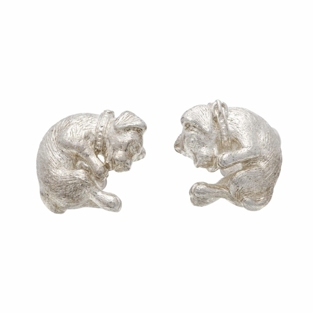 Zodiac East Dog Cufflinks by Simon Harrison