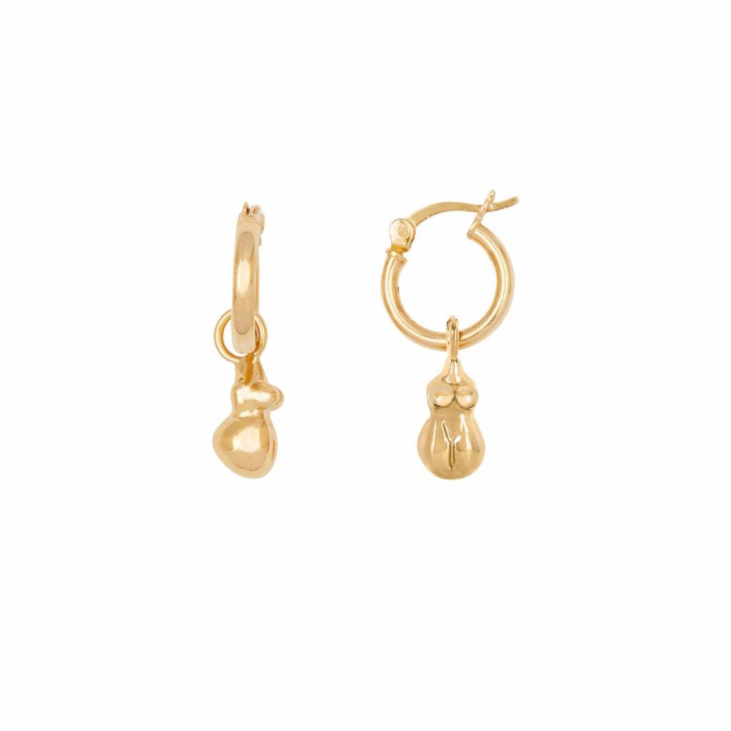 Wobbly Bits Hoop Earrings by Deborah Blyth