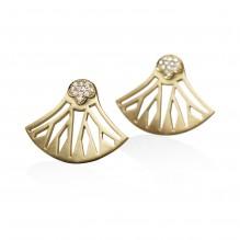 Lotus Button Earrings