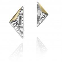 Sculpture Earrings by Azza Fahmy