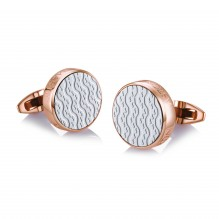 Rose Gold Plated and Ceramic Cufflinks