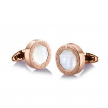 Rose Gold Mother-of-Pearl Cufflinks