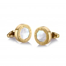 Gold Mother-of Pearl Cufflinks