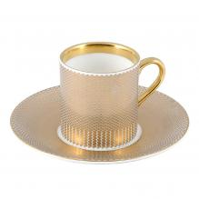 Benday Gold Espresso Cup and Saucer
