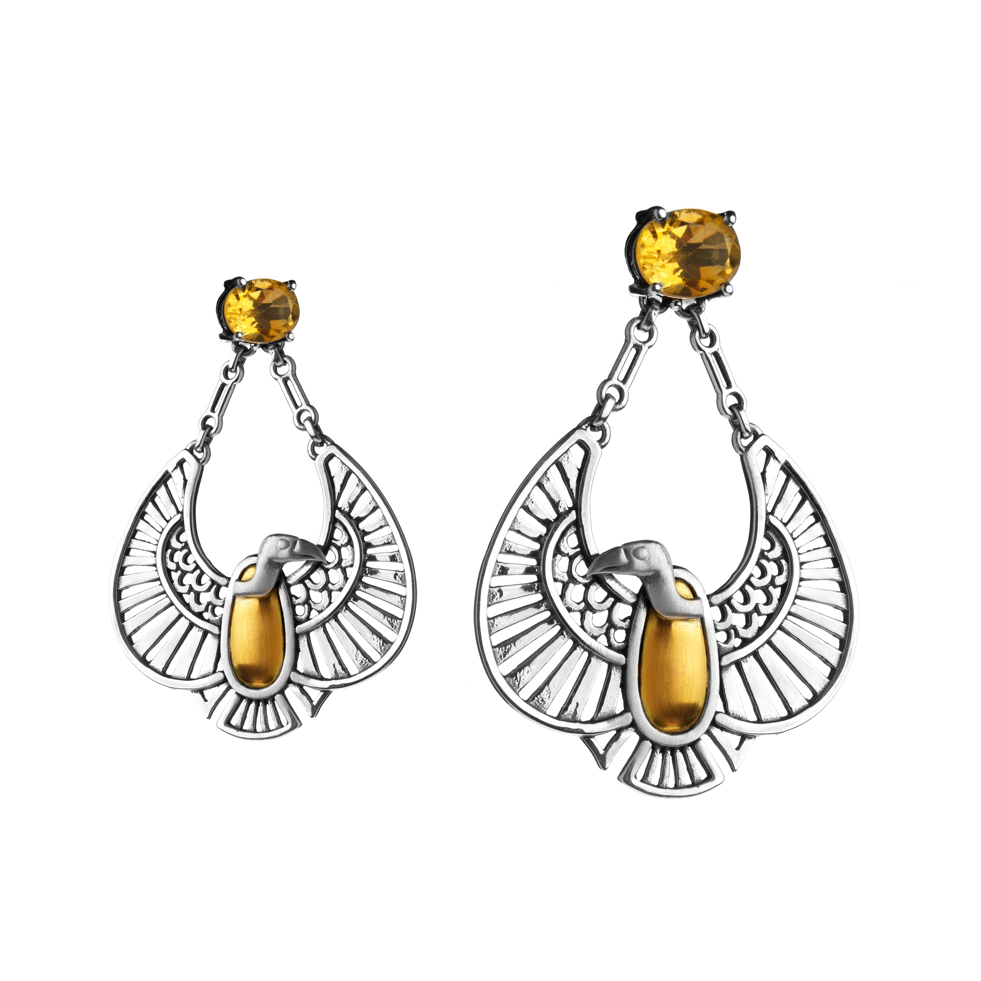Nekhbet Vulture Earrings