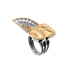 Winged Scarab Feather Ring