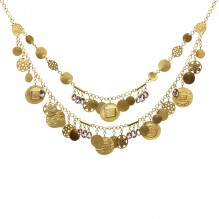 Layered Coins Necklace