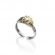 Diamond Lotus Knuckle Ring