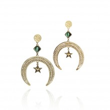 Diamonds Crescent-Star Earrings