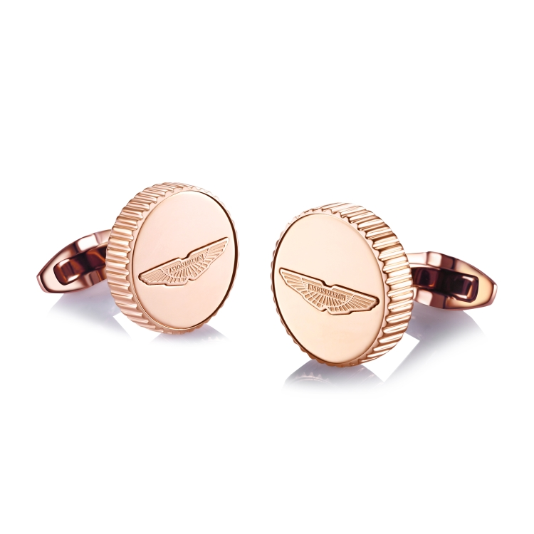 Rose Gold Plated Wings Cufflinks